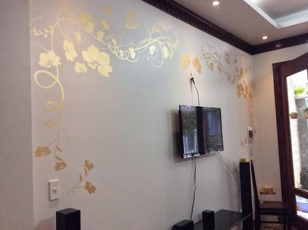 mẫu sơn tường hoa văn